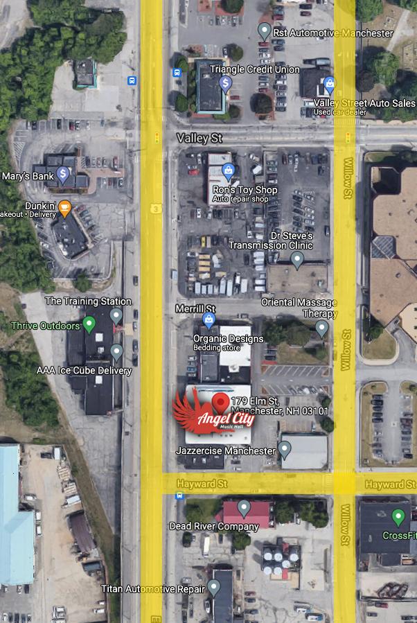Angel City Music Hall Parking Map